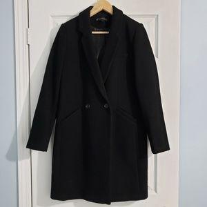 Zara Black Wool Coat